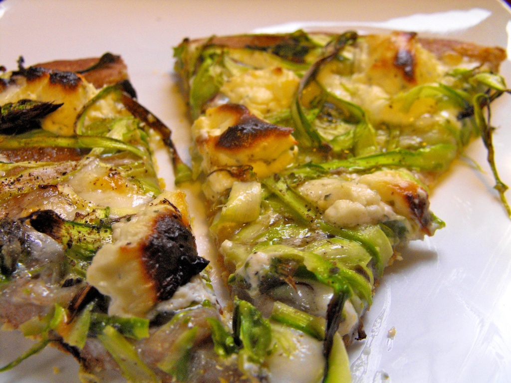Shaved Asparagus Pizza - Wellsphere